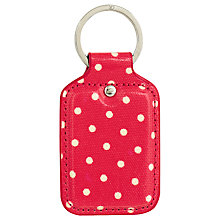Buy Cath Kidston Poppy Red Mini Dot Key Fob Online at johnlewis.com