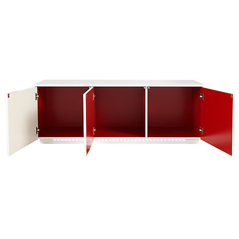Buy House by John Lewis Verona Gloss 3 Door Sideboard, White Online at johnlewis.com