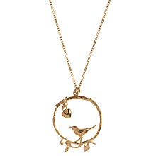 Buy Alex Monroe 22ct Gold Vermeil Bird In Twig Loop Pendant Online at johnlewis.com