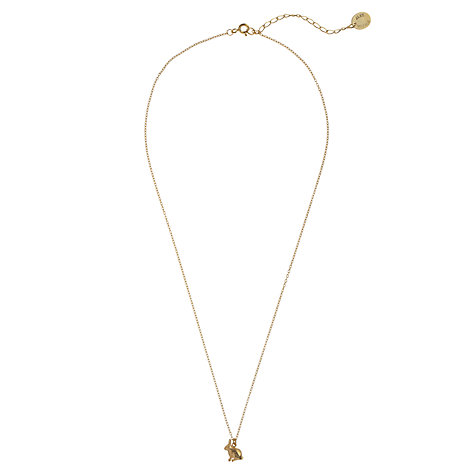 Buy Alex Monroe 22ct Gold Vermeil Sitting Bunny Pendant Online at johnlewis.com