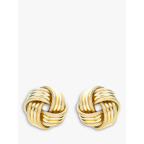 Buy John Lewis 9ct Gold Knot Earrings Online at johnlewis.com