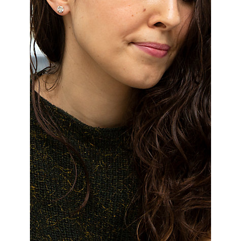Buy John Lewis 9ct Gold Round Cubic Zirconia Stud Earrings Online at johnlewis.com