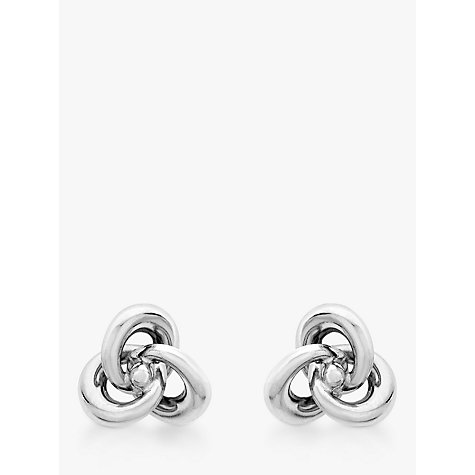 Buy John Lewis 9ct White Gold Knot Stud Earrings Online at johnlewis.com