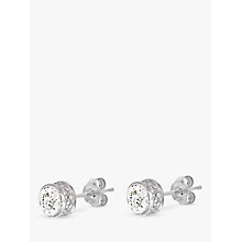 Buy John Lewis 9ct White Gold Cubic Zirconia Stud Earrings Online at johnlewis.com