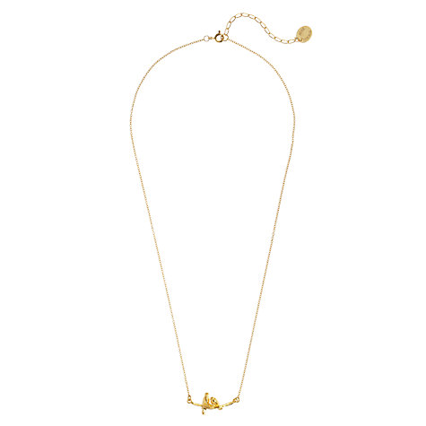 Buy Alex Monroe 22ct Gold Vermeil Lovebirds Branch Pendant Necklace Online at johnlewis.com