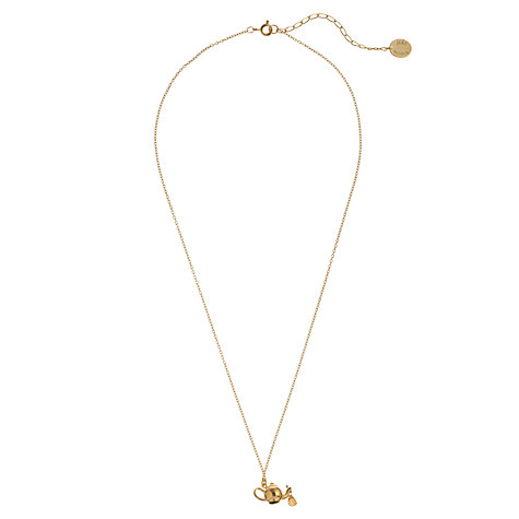 Buy Alex Monroe 22ct Gold Vermeil Sapphire Teapot Pendant Necklace Online at johnlewis.com