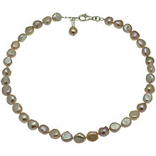 Buy Lido Freshwater Pearl Single Row Necklace, Pink Online at johnlewis.com