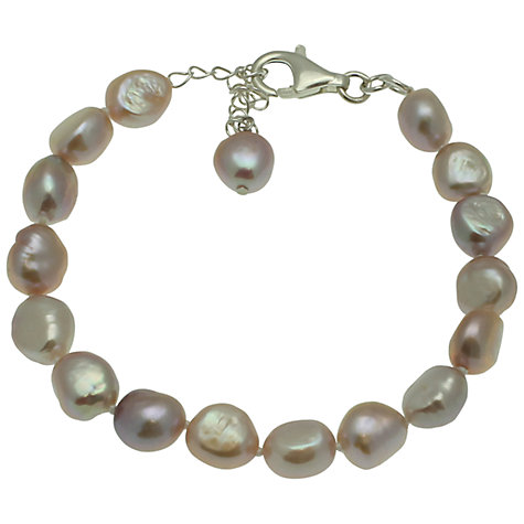 Buy Lido Freshwater Pearl Single Row Bracelet, Pink Online at johnlewis.com