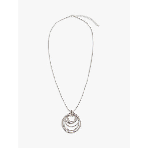 Buy John Lewis Multi Hoop Pendant Long Necklace, Rhodium Online at johnlewis.com