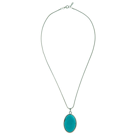 Buy John Lewis Oval Pendant, Turquoise Online at johnlewis.com