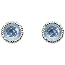 Buy Kit Heath Bound Sterling Silver Glass Stud Earrings, Online at johnlewis.com