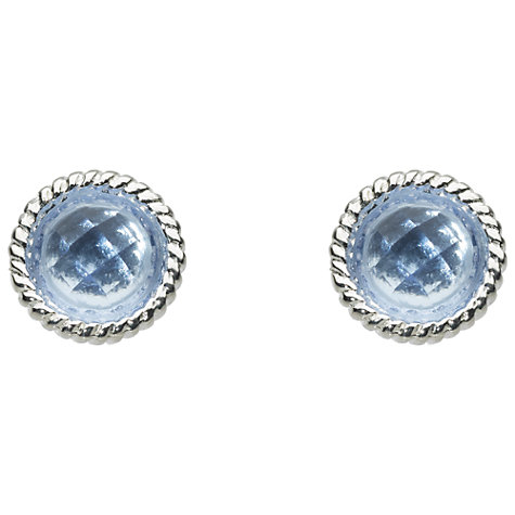 Buy Kit Heath Bound Sterling Silver Glass Stud Earrings, Azure Online at johnlewis.com