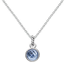 Buy Kit Heath Bound Sterling Silver Glass Pendant, Azure Online at johnlewis.com