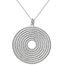 Buy Kit Heath Large Ravel Disc Sterling Silver Pendant Online at johnlewis.com