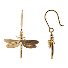 Buy Alex Monroe 22ct Gold Vermeil Dragonfly Hook Earrings Online at johnlewis.com