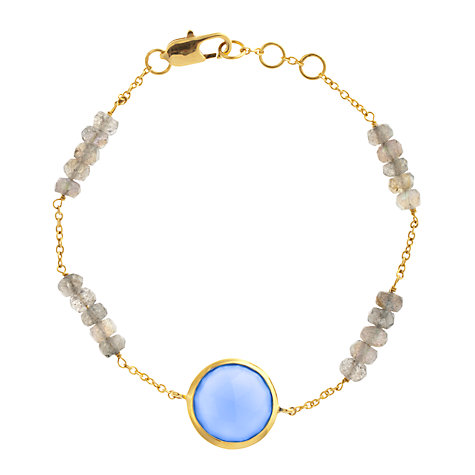 Buy John Lewis Gemstones Chalcedony Circle with Labradorite Adjustable Bracelet, Blue Online at johnlewis.com