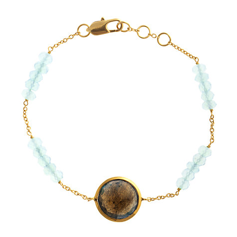 Buy John Lewis Gemstones Labradorite Circle with Chalcedony Adjustable Bracelet, Brown Online at johnlewis.com