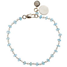 Buy John Lewis Gemstones Chalcendony Bead Bracelet , Blue Online at johnlewis.com