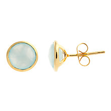 Buy John Lewis Gemstones Chalcedony Circle Stud Earrings, Aqua Online at johnlewis.com