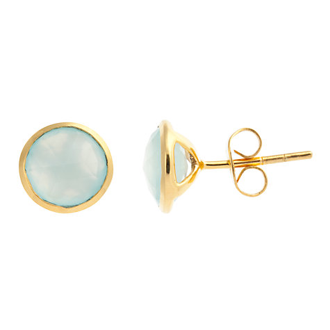 Buy John Lewis Gemstones Chalcedony Circle Stud Earrings Online at johnlewis.com