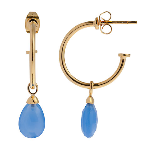 Buy John Lewis Gemstones Single Drop Sleeper Hoop Stud Earrings Online at johnlewis.com