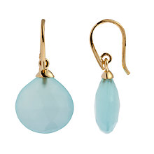 Buy John Lewis Gemstones Chalcedony Tear Drop Hook Earrings Online at johnlewis.com