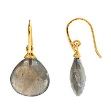 Buy John Lewis Gemstones Gold Plated Chalcedony Tear Drop Hook Earrings Online at johnlewis.com