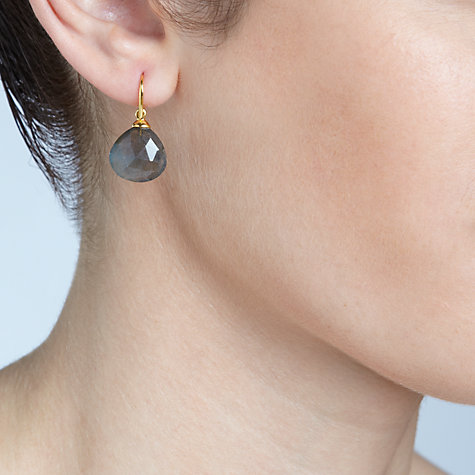 Buy John Lewis Gemstones Larbradorite Tear Drop Hook Earrings, Grey Online at johnlewis.com
