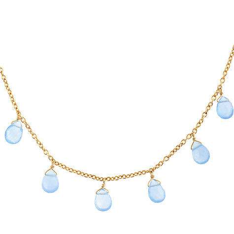 Buy John Lewis Gemstones Teardrop Chalcedony Long Necklace Online at johnlewis.com