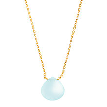 Buy John Lewis Gemstones Teardrop Chalcedony Pendant Necklace Online at johnlewis.com