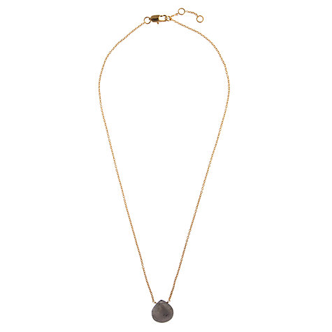 Buy John Lewis Gemstones Teardrop Labradorite Pendant Necklace, Grey Online at johnlewis.com