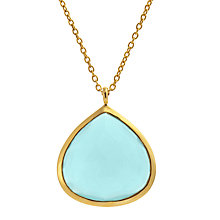 Buy John Lewis Gemstones Large Teardrop Chalcedony Pendant Necklace Online at johnlewis.com