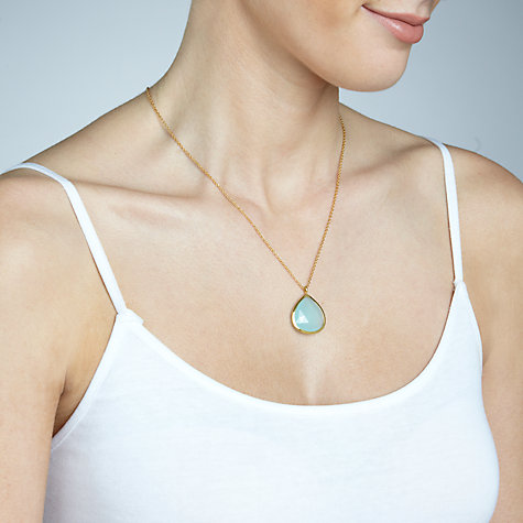Buy John Lewis Gemstones Large Teardrop Pendant Necklace Online at johnlewis.com