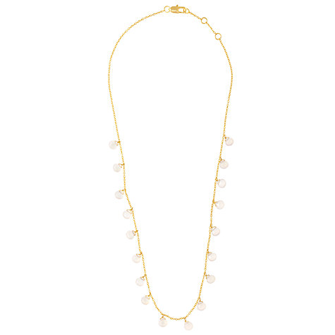 Buy John Lewis Gemstones Teardrop Rose Quartz Short Necklace, Pink Online at johnlewis.com