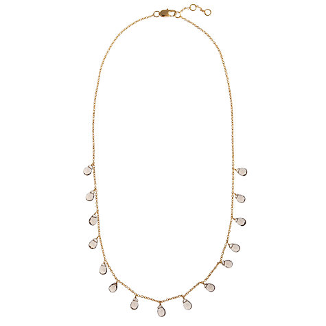 Buy John Lewis Gemstones Teardrop Smoky Quartz Short Necklace, Brown Online at johnlewis.com