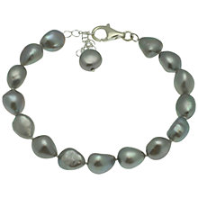 Buy Lido Single Row Baroque Pearl Bracelet, Silver Online at johnlewis.com
