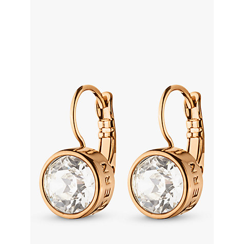 Buy Dyrberg/Kern Louise Rose Gold Crystal Hook Drop Earrings Online at johnlewis.com