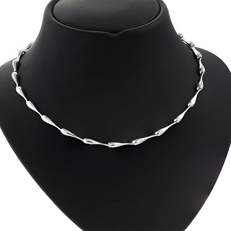 Buy Nina B Sterling Silver Link Necklace, Silver Online at johnlewis.com