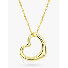 Buy IBB 9ct Yellow Gold Twist Curb Chain Heart Pendant Necklace Online at johnlewis.com