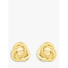 Buy IBB 9ct Gold Knot Spanish Stud Earrings, Gold Online at johnlewis.com