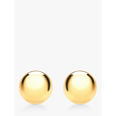 Buy IBB 9ct Gold Spanish Ball Earrings Online at johnlewis.com