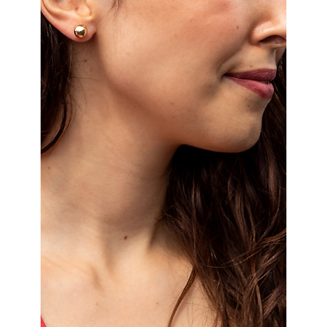 Buy IBB 9ct Yellow Gold 8mm Ball Stud Earrings, Yellow Gold Online at johnlewis.com