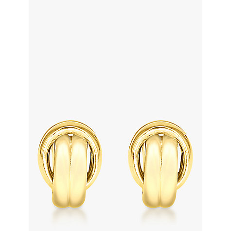 Buy John Lewis 9ct Gold Knot Spanish Stud Earrings Online at johnlewis.com