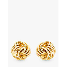 Buy IBB 9ct Gold Mini Rose Stud Earrings, Gold Online at johnlewis.com