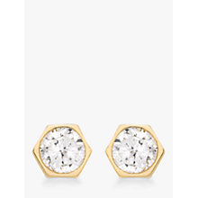 Buy John Lewis 9ct Gold Hexagonal Cubic Zirconia Spanish Earrings Online at johnlewis.com