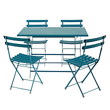 Buy EMU Arc en Ciel 4 Seater Outdoor Furniture Set, Blue Online at johnlewis.com