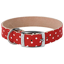 Buy Cath Kidston Red Spot Pet Collar, Large Online at johnlewis.com