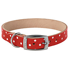 Buy Cath Kidston Red Spot Pet Collar, Medium Online at johnlewis.com