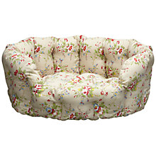 Buy Cath Kidston Summer Blossom Pet Bed, Stone, Medium Online at johnlewis.com