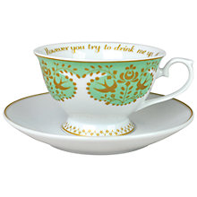 Buy Tea Time Sip by Sip Cup and Saucer, Green Online at johnlewis.com
